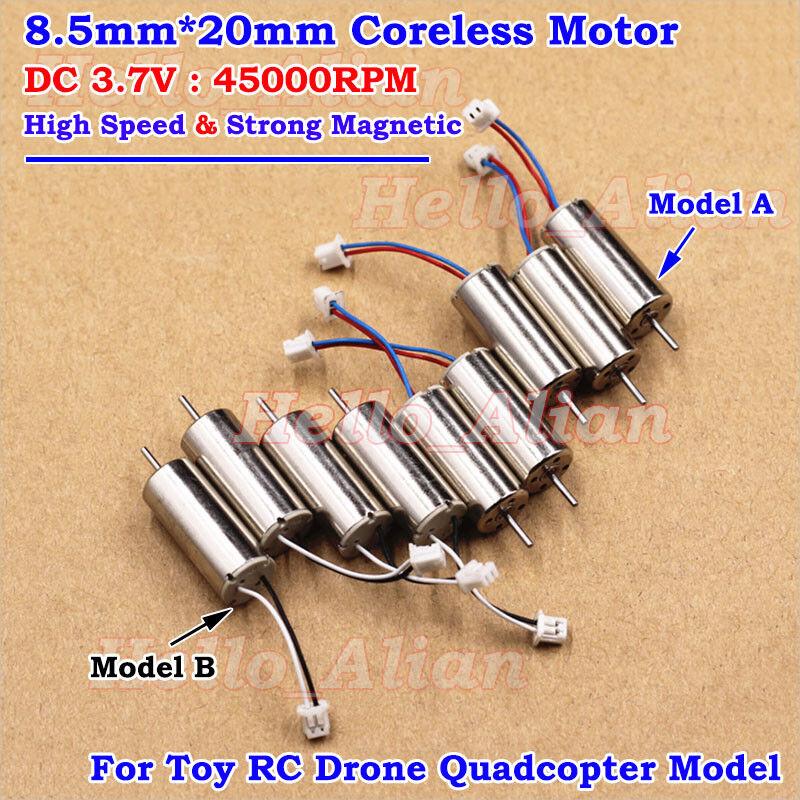6mm*12mm DC 3V 3.7V 49000RPM High Speed Mini Coreless HM Motor Drone Quadcopter