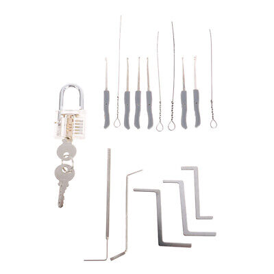 Locksmith Tools Practice Transparent Lock With Key Extractor Wrench Tool Ts