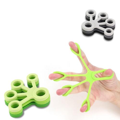 Hand Resistance Bands Finger Stretcher Extensor Exerciser Grip Strengthener Rock