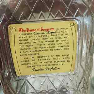 1955 Seagram's Crown Royal Whiskey Bottle and Box Regina Regina Area image 7