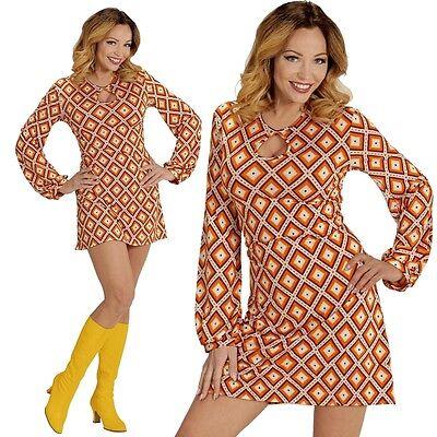 GROOVY GIRL 38/40 M HIPPIE KLEID DAMEN KOSTÜM - Hippie Kleider Kostüm