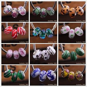 10pcs-Glass-Loose-Spacer-Murano-Lampwork-Beads-Fit-European-Charm-Bracelet