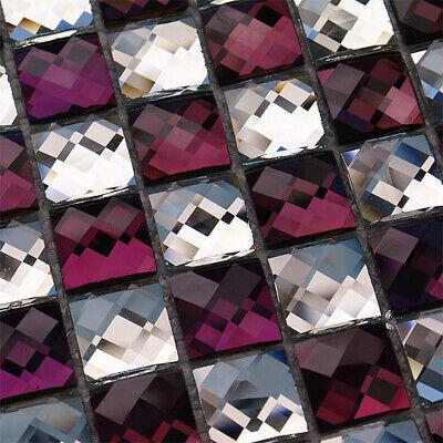 как выглядит 13 Edges Mirror Mosaic Tiles Beveled Crystal Diamond Shining Glass Wall Sticker фото