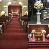 STUNNING CHURCH & AISLE DECOR, LUXURIOUS DECOR WITHIN UR BUDGET