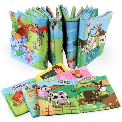 Baby Fabric Activity Crinkle Soft Books for Baby Infants Early Educational Toys*