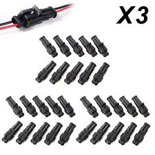30pcs Super Seal Waterproof 2 Pin Way Electrical Wire