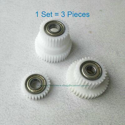 Drive Gear Kit 3pcs 612-12208 612-82407 612-80017 Fit For Riso Rv Rz Ev Ez