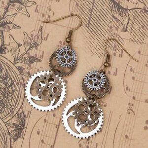 Steampunk Earrings Antique Bronze Gears Jewelry Exquisite Unique Gift