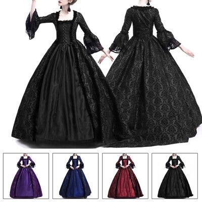 2019 Femme Gothique Renaissance Déguisement Vintage Médiéval Robe Longue - Kostüm Medievale Femme