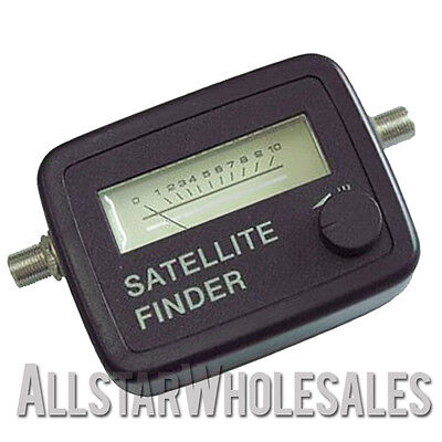 Satellite Finder Analog Sf 95 950 2150 Mhz Fta Dish Signal Meter Sat Finders