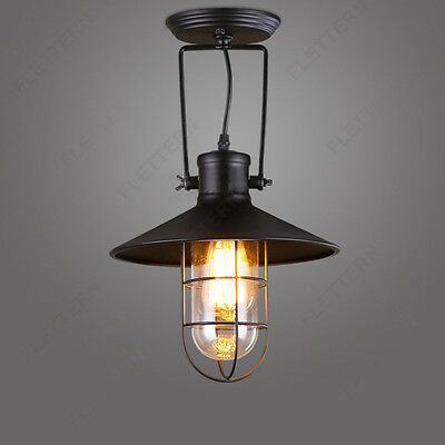 New Industrial Metal Cage Vintage Chandelier Garage Wall