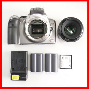 Canon 300D digital DSLR + 50mm F1.8 lens + 2 batteries + card