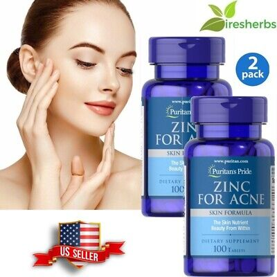 #1 BEST ZINC FOR ACNE SKIN HEALTH REDUCE APPEARANCE SCARS SUPPLEMENT 200