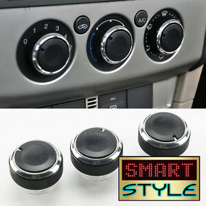 SmartStyle BLACK Aluminium Heater Knobs Buttons for Ford Focus/C-Max/S-Max/ST