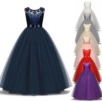 Gowns For Kids (Flower Girl Dress Princess Gown Baby Kids Party Wedding Bridesmaid Formal )