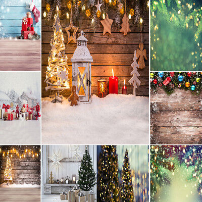 Christmas Vinyl Photography Backdrops Wooden Backdrop Photo Background For Xmas - Christmas Backgrounds For Photography