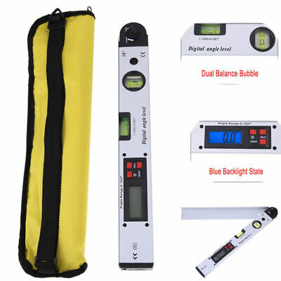Digital Lcd Electronic Angle Finder Meter Protractor Dual Spirit Level 1pc 400mm