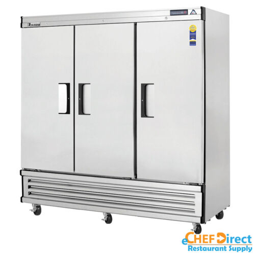"Everest Ebr3 75"" Three Door Reach-in Refrigerator"