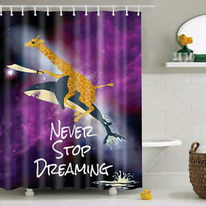 Never stop dreaming Fabric Waterproof Bath Bathroom Shower