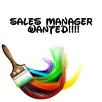 SALES MANAGER WANTED!!!
