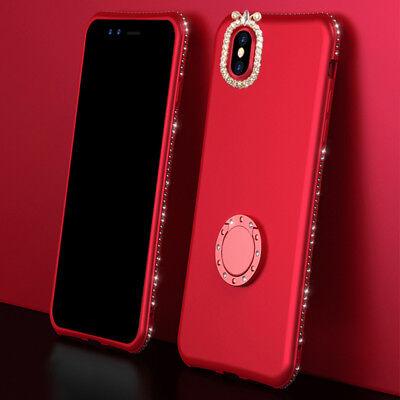 For iPhone XR 8 Plus Case Women Diamond Rhinestone Bling Rin