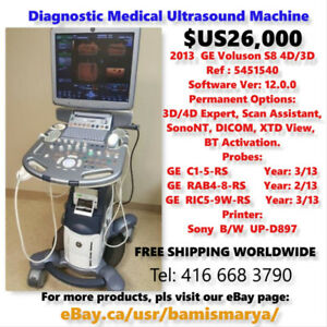 DIAGNOSTIC ULTRASOUND MACHINES  & PROBES. Shipn Worldwide