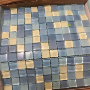 12 sheets of Glass Mosaic Tiles