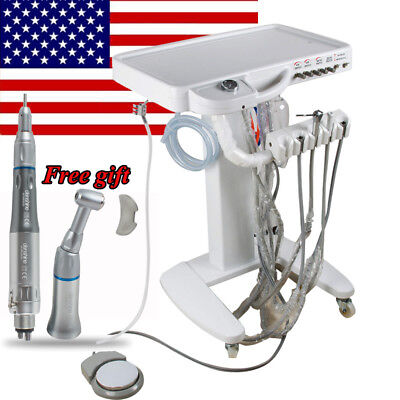 Moveable Dental Delivery Cart Dental Treatment Chair 4h Low Speed Handpiece