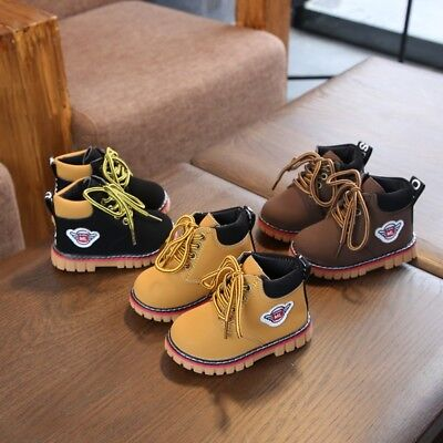 Winter Warm Army Martin-Boots Toddler Baby Kids Boy Girl Lea