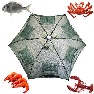 - Fishing Bait Foldable Crab Net Trap Cast Dip Cage Fish Crawfish Shrimp River