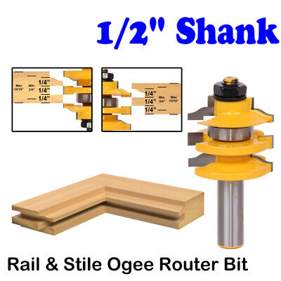 Ogee Stacked Rail And Stile Router Bit - 12 Shank Wood Milling Cutter Tools
