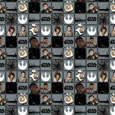 Star Wars - Immortals Grid Grey - Fabric Material