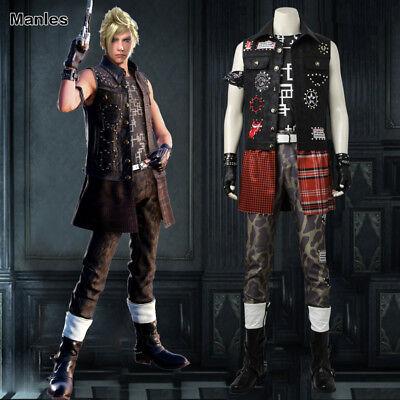 Final Fantasy XV Prompto Argentum Cosplay Fancy Dress Game Costume Comic Con New - Comic Con Costumes