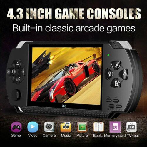 PSP X6 Handheld Spielkonsole 4,3 Zoll 64 Bit 8GB Video Spielkonsole für Kinder