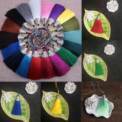 Diy Tassel Necklace (8cm Thread Tassel Fringe for DIY Crafts Jewelry Earrings Necklace Making)