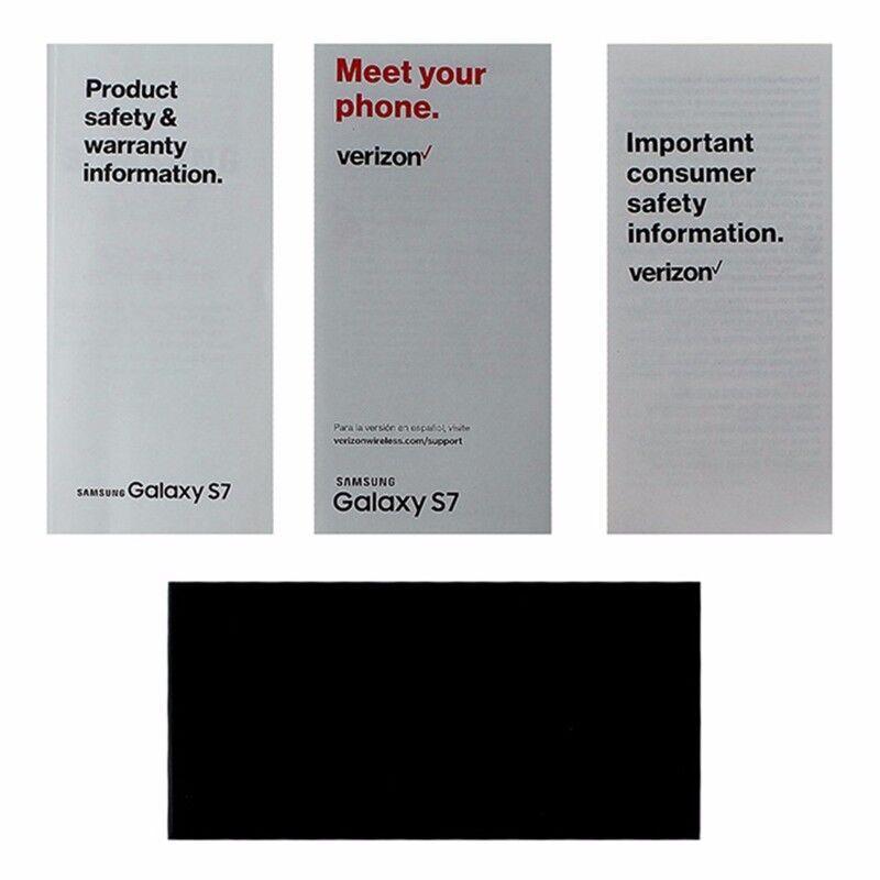 OEM Verizon Samsung Galaxy S7 Manual / Consumer Info / Product Safety Info