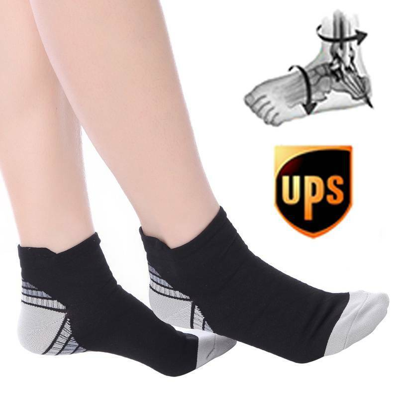Copper Compression Socks Running Ankle Arch Support Brace 20