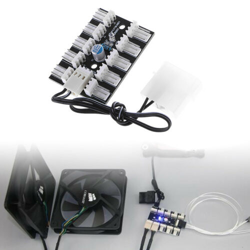 3-Pin PWM 10-Way Fan Hub PC CPU Host Game Case Water Cooling