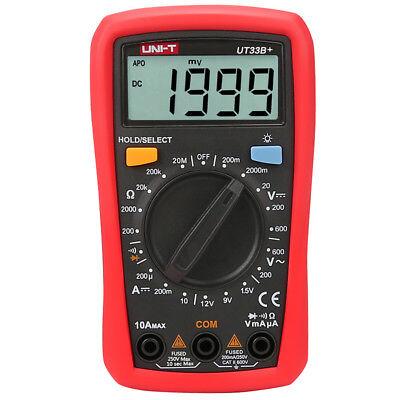Uni-t Ut33b Digital Multimeter Lcd Palm Size Dcac Ohm Current Resistance Teste