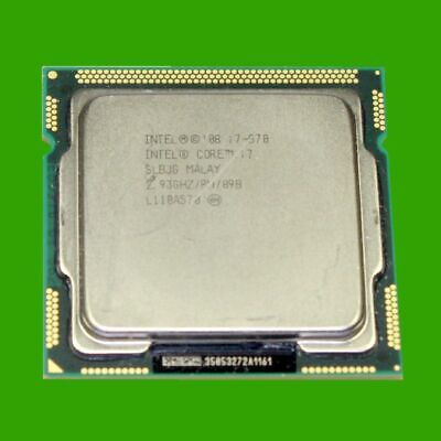 Intel Core I7 870 2,93 GHz Sockel LGA 1156 / H  CPU Quad Core Prozessor