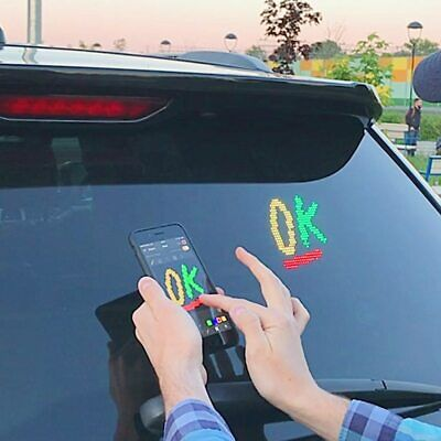LED Display Screen Controlled Images Custom Emoticons Car LED Display Screen Pic