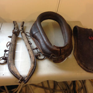 LEATHER HORSE COLLAR WITH HAMES