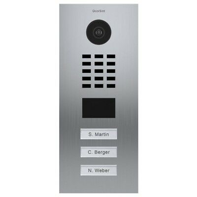 DOORBIRD - D2103V Outdoor Flush Mounted Video Door Station (3 Call Buttons)