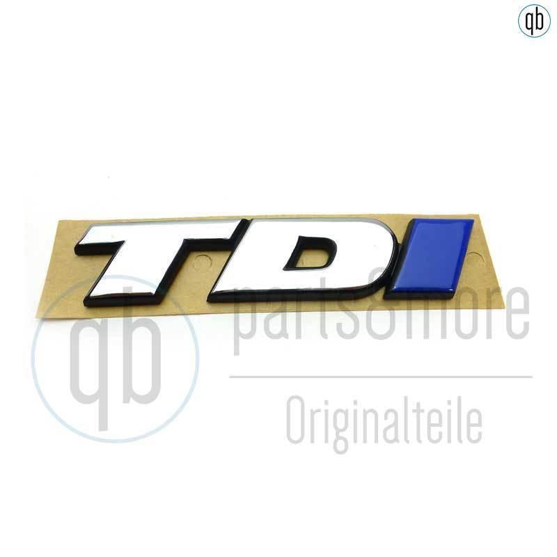 VW TDI Schriftzug Emblem Logo Schriftzug selbstklebend 5G0853675D Chrom