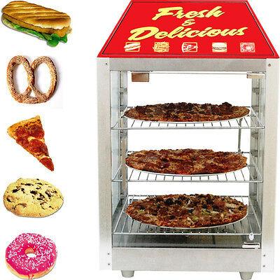 Countertop Commercial Heated Display Cabinet Double Glass Door Food Warmer Case
