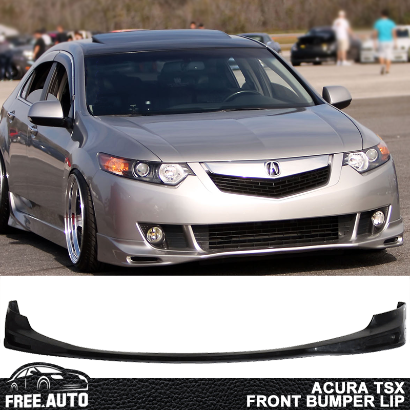Fits 09-10 Acura TSX CU1 JDM Style Front Bumper Lip