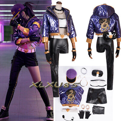 Halloween Popular Game LOL Cosplay Costume KDA Akali Suit Customize Full Set](Popular Halloween Costumes)