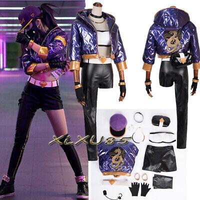 Halloween Popular Game LOL Cosplay Costume KDA Akali Suit Customize Full - Game Halloween
