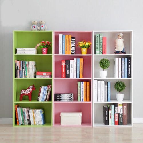 Hartleys 3 Tier Storage Shelf Unit Kids Childrens Bedroom: Wooden Storage Unit Cube 3,4 Tier Strong Bookcase Shelving