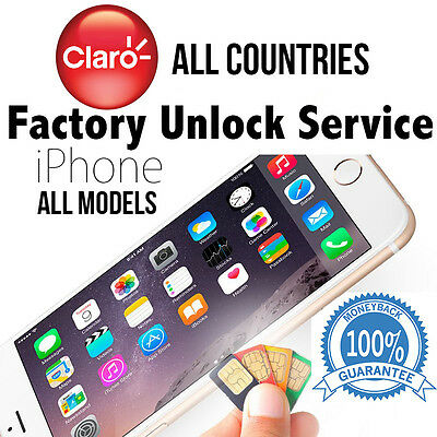 CLARO FACTORY UNLOCK SERVICE CODE FOR IPHONE 5S SE 6 6S 6S+ 7 PLUS ALL COUNTRIES